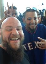 chad reynolds the texas bodyguard. Houston. Hanging with the Rangers in dallas